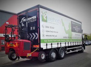 26 tonne lorry partnership with Trojan Mek and Wetherby Building Systems